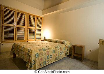 república, dominicano, nativo, habitación, hotel