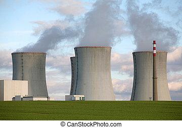 república, dukovany, poder nuclear, tcheco, planta