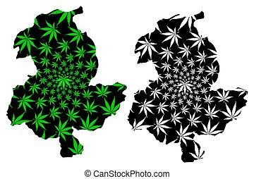 república, e, afganistán, pol), mapa, hoja, thc), sar-e, cannabis, verde, hecho, follaje, pol, sari, (islamic, marijuana, (marihuana, diseñado, provincias, (sar, negro, provincia, afghanistan), pul