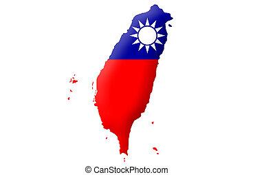 república, taiwán, -, china