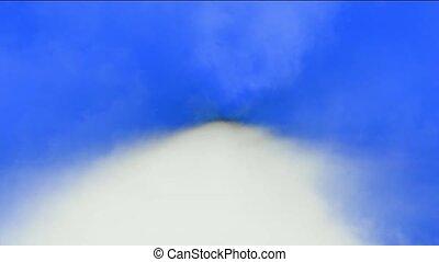 repülés, át, gyorsan, clouds.