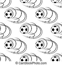 repülés, futball, seamless, herék, motívum