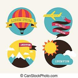 repülőgép, balloon, háttér, nap, levegő