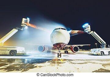 repülőgép, deicing