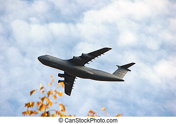 repülőgép, erőltet, levegő