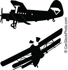 repülőgép, két, ábra