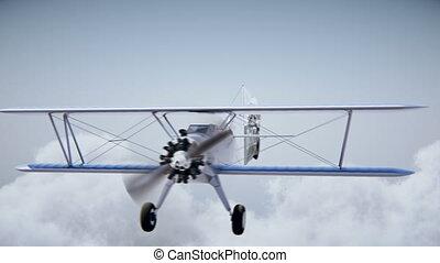 """repülőgép, noha, transzparens, """"happy, birthday"""", 4k, uhd"""