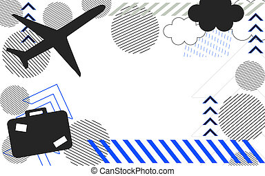 repülőgép, utazás, repülőtér, háttér