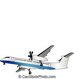 repülőgép, vektor, -