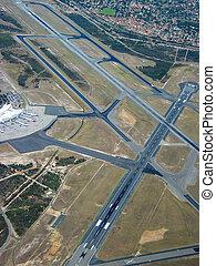 repülőtér, antenna
