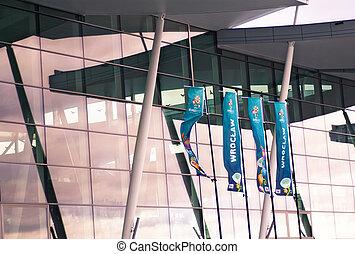 repülőtér, modern, wroclaw