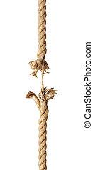 rep, skadat, sträng, riskera