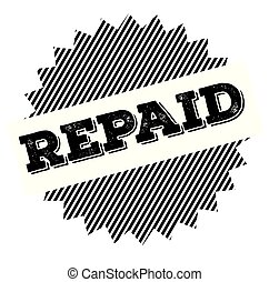 repaid black stamp on white background