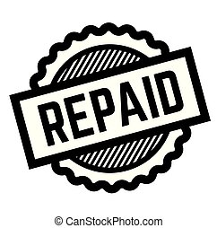 repaid black stamp on white background. Sign, label, sticker