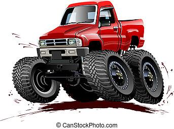 repaint, camion, cartone animato, one-click, mostro