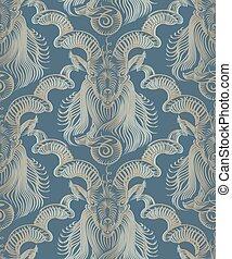 Repaint seamless pattern: Capricorn