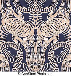 Repaint seamless pattern: ram