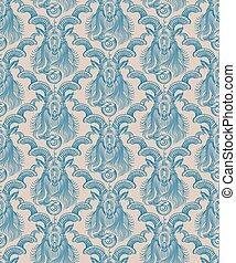 Repaint seamless pattern: wall wallpaper Capricorn