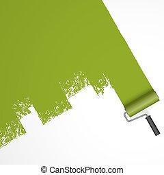 repainting, rol, verf
