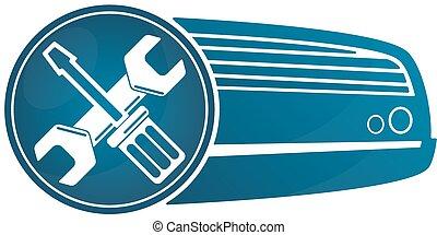 air conditioner repair clipart. repair air conditioner - symbol for. clipart y