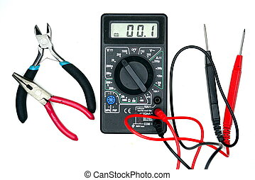 Repair and measurement of the voltage of equipment.