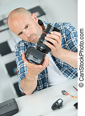 repair broken digital slr camera in service center