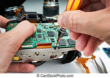 Repair broken DSLR camera service center