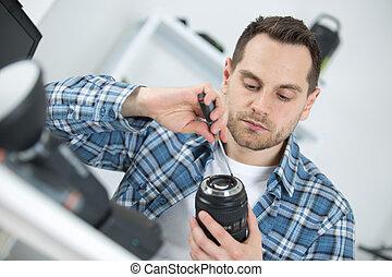 repair broken slr camera in service center c