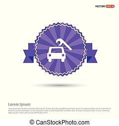 Repair Car Icon - Purple Ribbon banner