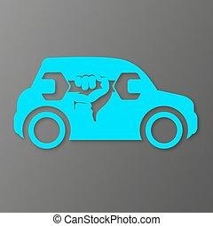 Repair car symbol