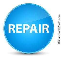 Repair elegant cyan blue round button