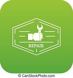 Repair icon green vector
