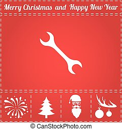 Repair Icon Vector. And bonus symbol for New Year - Santa...