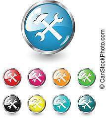 Repair icons, vector set