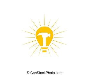 Repair Idea Icon Logo Design Element