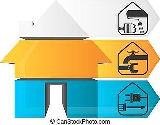 Repair infographics home