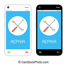 repair logo on smartphone screen