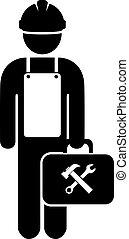 Repair man worker icon