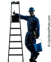 repair man worker silhouette