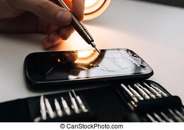 Repair of a broken mobile phone