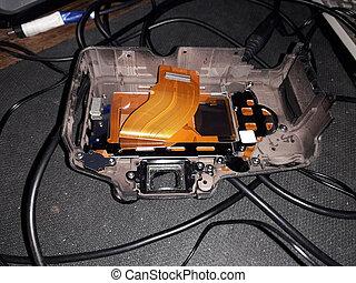 Repair of a digital SLR camera, microelectronics