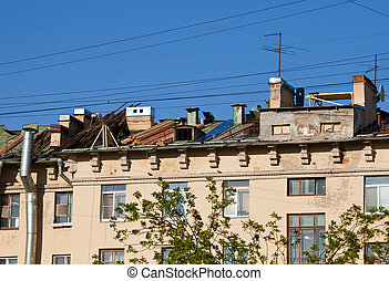 Repair of a roof on the city building