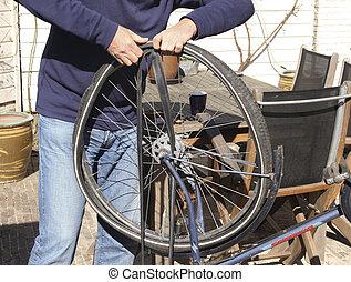 repair of bike tire