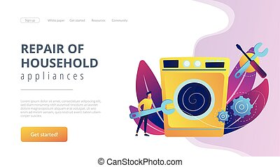 Repair of household appliances concept landing page.