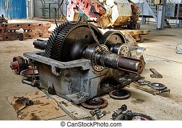 Repair of oil equipment.