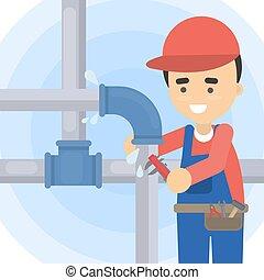 Repair of pipes.