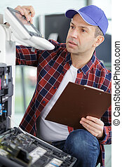 repair of the laser copier-printer