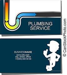 Repair of water pipes and plumbing business card - Repair ...