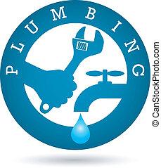 Repair plumbing for vector - Repair plumbing vector design...