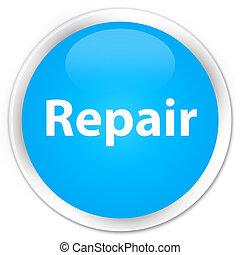 Repair premium cyan blue round button